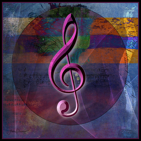 Treble Clef Collage