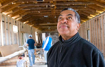 Record-Eagle/Douglas Tesner<br /> <br /> The Rev. Jack Battiste chose to renovate his church, New Testament Baptist Church in New Orleans' Lower Ninth Ward, before he renovated his own home, which is just blocks from the church and was completely destroyed by Hurricane Katrina.