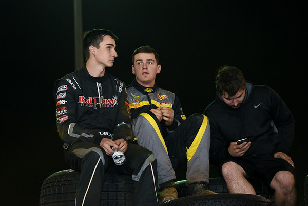 Two west coast hot shoes Gio Scelzi (left) and Trey Starks (right) watch the remaineder of time trials.