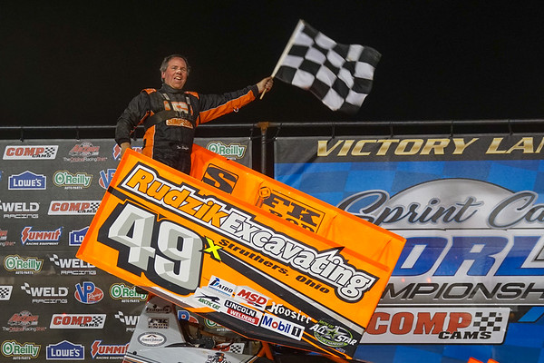 The 'Steel City Outlaw' Tim Shaffer was victorious in A-Main number 1.