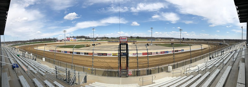 The track sits ready for night one of the inaugural Sprint Car World Championship.
