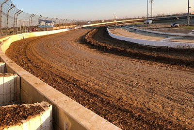 Track prep after a late afternoon monsoon came through.