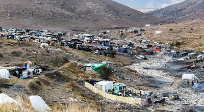 John Chaides A small poor village near the Fraccionamiento Valle de las Palmas Clinic by Healing Hearts Across Borders in Tijuana, Mexico on Friday, February 23, 2018. Living conditions are low and many houses are built with materials that were found in the dump.