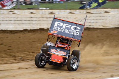 Pennsylvania native Brock Zearfoss smokes the right rear in hot laps.