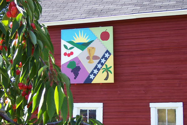 Photo courtesy of Evelyn and Carl Johnson<br /> The farm of Fran and Jim Krupka features a quilt square celebrating their lives, including their five daughters, the fruits they grow and service to the St. Joseph's Catholic Church.