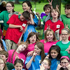 Record-Eagle/Jan-Michael Stump<br /> Fifth-grade students at Eastern Elementary gather for a class picture during their picnic outside the school.