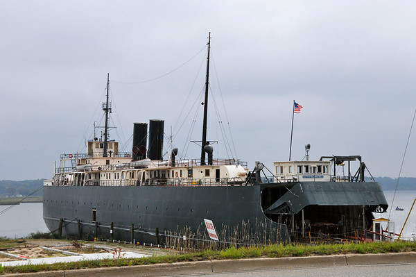 "Record-Eagle/Vanessa McCray<br /> <br /> The hulking railroad car ferry S.S. City of Milwaukee provided a gritty and historic setting for filmmaker Rich Brauer's newest movie ""Fitful."" The vessel is docked in Manistee."