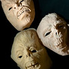 Record-Eagle/Jan-Michael Stump<br /> Some of Hocus Pocus owner Tom Cook's latex masks.