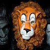 Record-Eagle/Jan-Michael Stump<br /> Gorilla and Cowardly Lion masks.