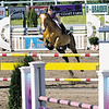Record-Eagle/Douglas Tesner<br /> Mariola Power and her horse Tubby clear a hurdle during the 2008 Horse Shows by the Bay at Flintfields Horse Park in Williamsburg.
