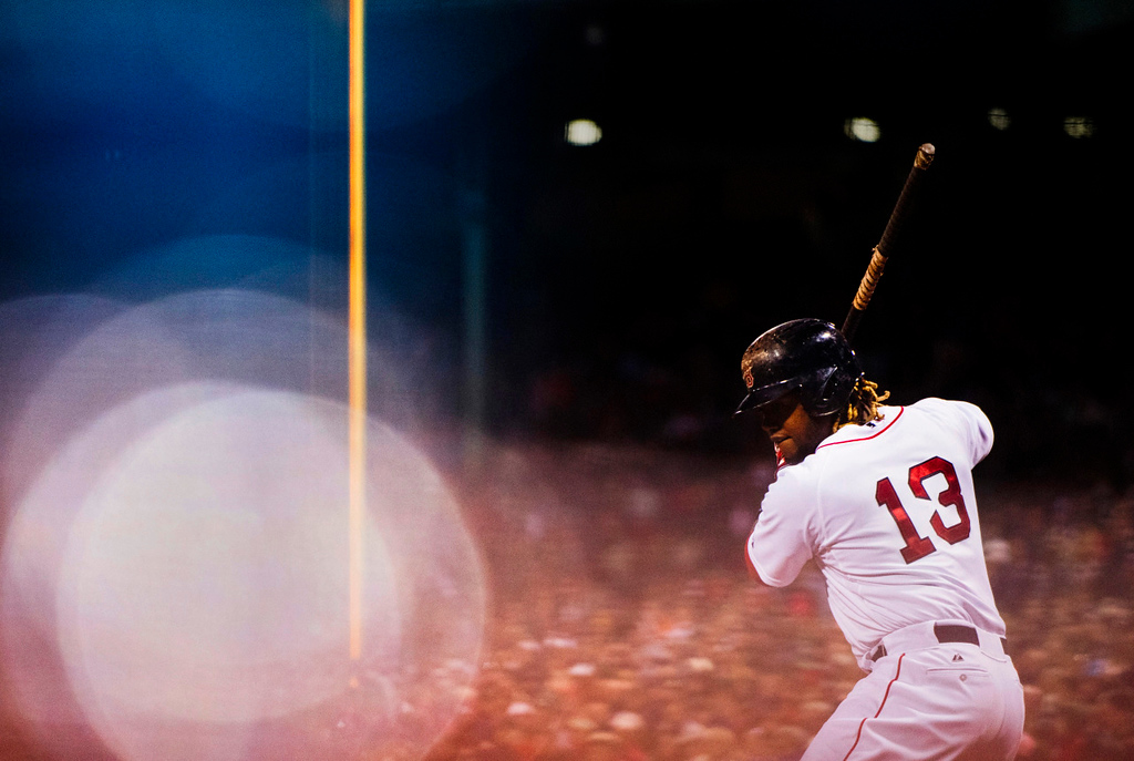 Hanley Ramirez walks up to the plate during the game against the Texas Rangers on May 20, 2015.