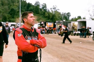 Steve Buckwalter watches time trials.