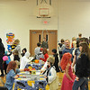 Record-Eagle/Vanessa McCray<br /> The gym at St. Mary-Hannah School in Kingsley bustles with costumed children and their parents.