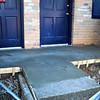 Newly poured concrete porches
