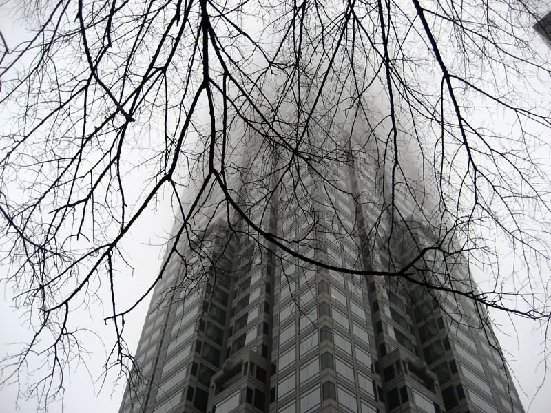 Atlanta in the fog