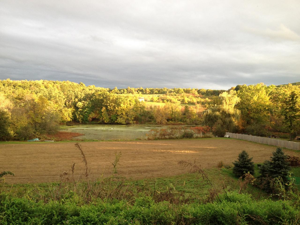Field, Lake Warner, and the orchard