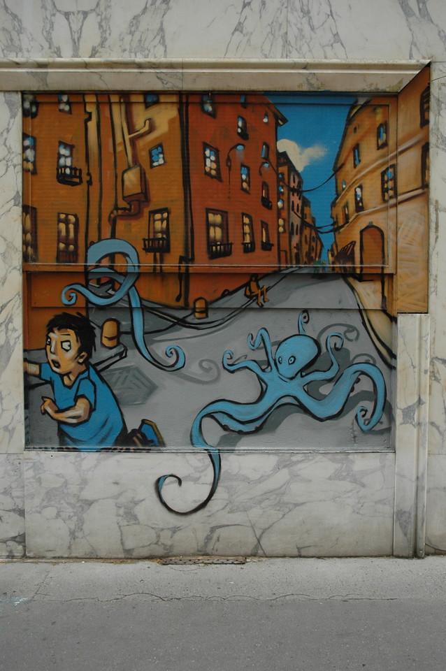 An odd mural
