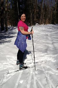 Short-sleeved skiing