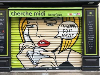 """Inspired by Lichtenstein. """"Bricolage"""" means """"do it yourself."""""""