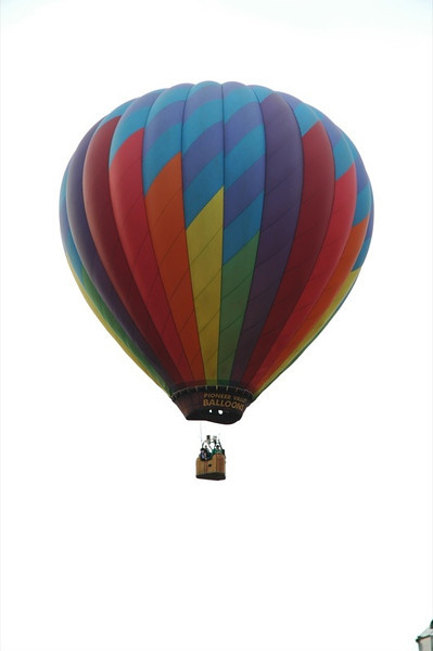 Balloon over our house