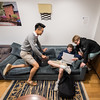 Burnett House; Day Student area for lounging, storage, studying Adam Richins Photography