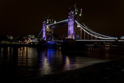 The Thames & Tower Bridge At Night