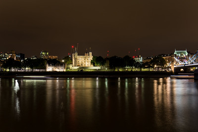 The Thames & The Tower Of London At Night