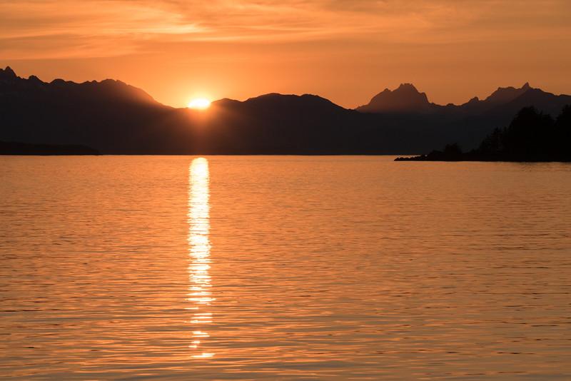 sunset, Stephen's Passage