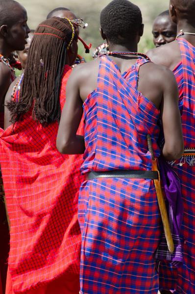 Maasai men and warriors