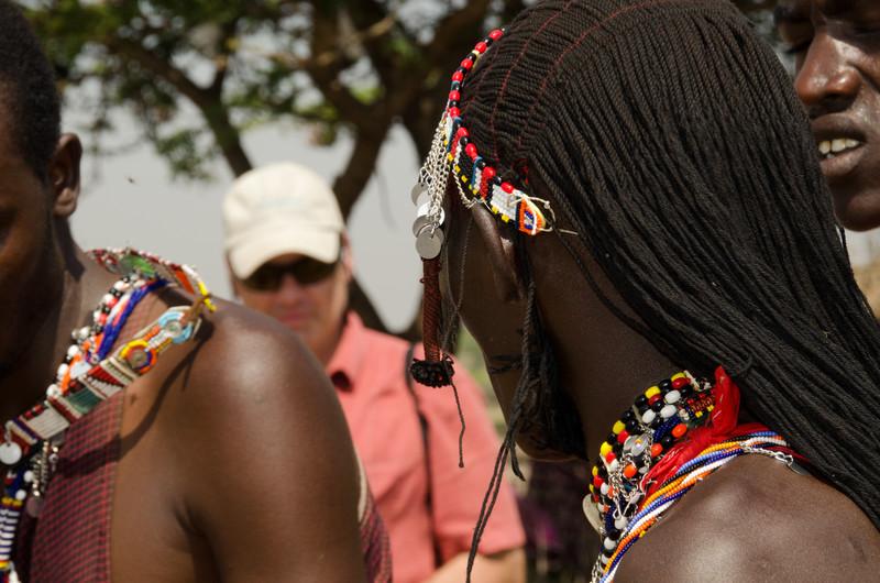 Maasai men and warriors with Dan
