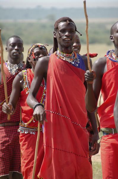 Maasai men and boys