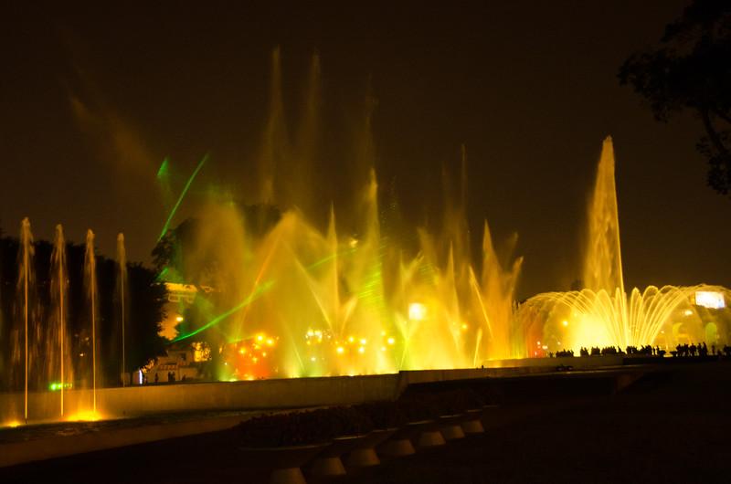 water show, Lima, Peru