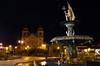 Night time in the square Cusco, Peru