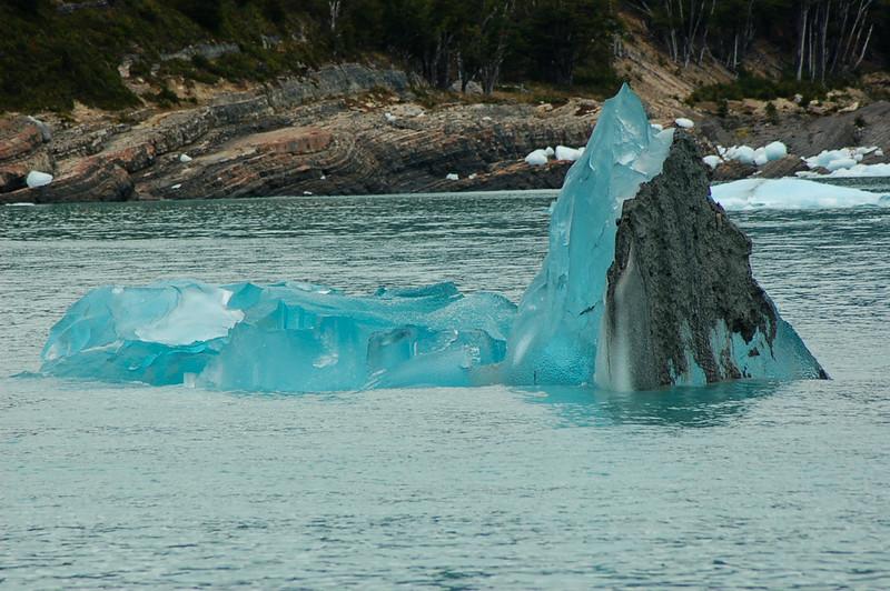 Calved iceburg in lake from Perito Moreno Glaciar