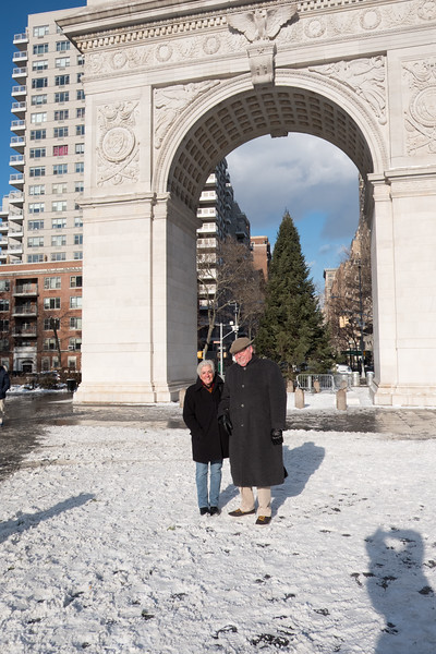 Paul and Laura Agabashian in Greenwich Village
