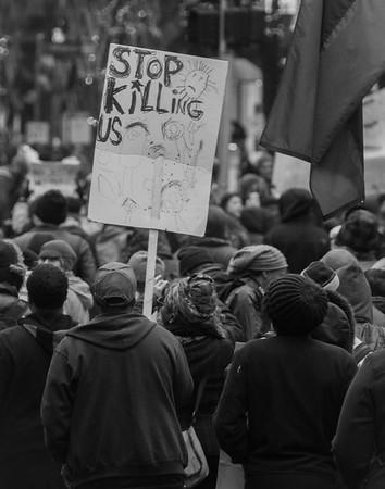 Protest on Michigan Avenue
