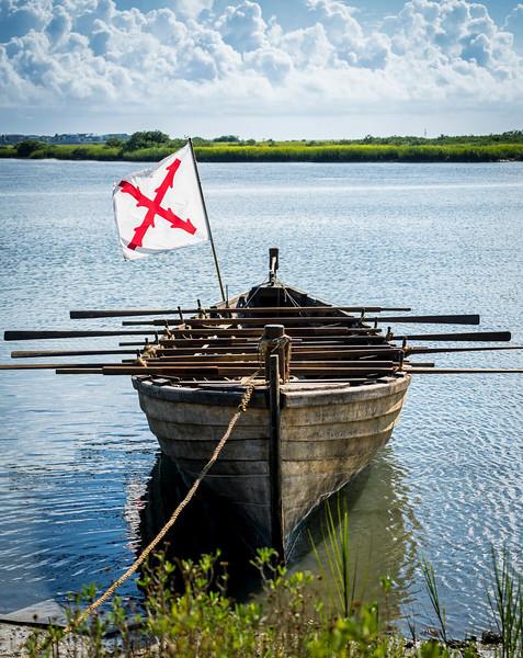 Reenactors Boat by Glo MacDonald