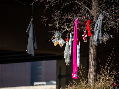 12.26.2018 The stockings were hung... (at the homeless encampment)