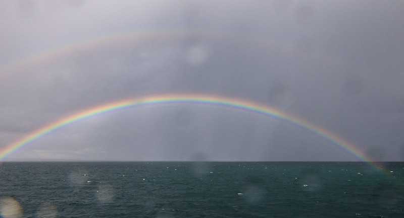 An amazing rainbow on the way back to Rossaveel.
