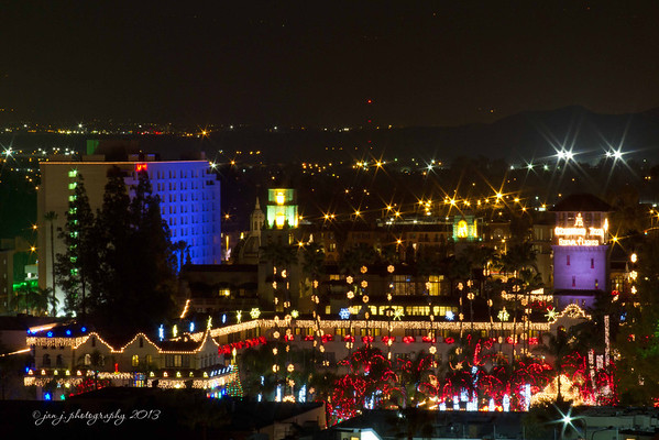 December 13 - Downtown Riverside - Overlooking the Mission Inn's Festival of Lights.