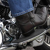 February 2 - B is for Boot - We rode the motorcycle out for breakfast this morning.