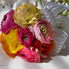 March 15 - A bright bouquet...I can never resist ranunculus.