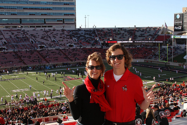 November 2 - Obviously I didn't take this shot but it was my favorite shot of the day so I've declared my Photo-of-the-Day.  Guns Up from Texas Tech!!!