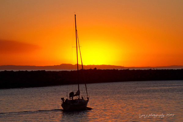 October 5 - End of the day at Dana Point Harbor