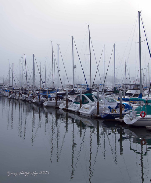 March 13 - Though it was a warm sunny day at my house, Dana Point Harbor was foggy and cool.