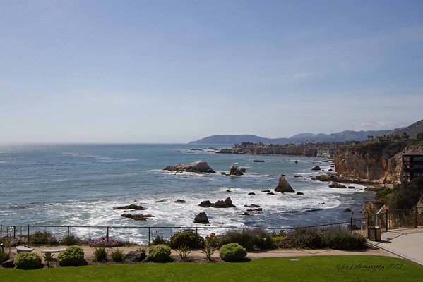 April 6 - This is the view from our hotel balcony in Pismo Beach.
