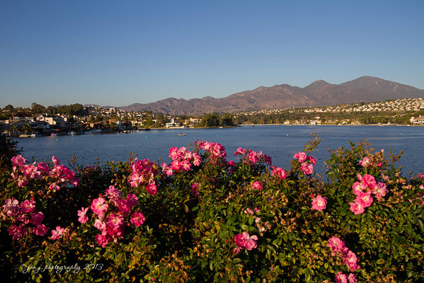 November 10 - Theme for the day was LANDSCAPE - so we have a beautiful fall day at Lake Mission Viejo.
