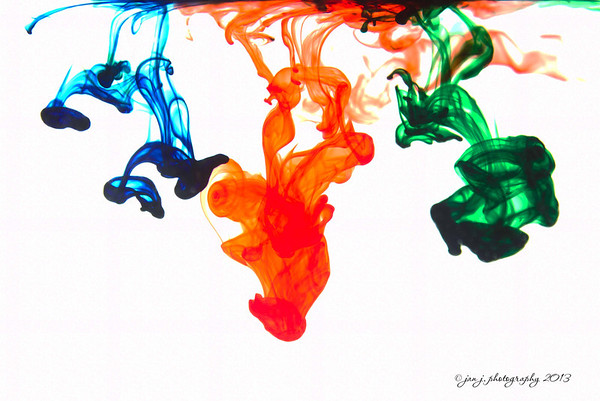 August 31 - Food Coloring in water.  I had a handsome assistant today giving me a hand with the droppers.