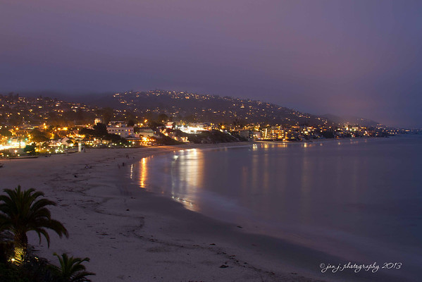August 14 - It ended up being a pretty nice evening in Laguna Beach.