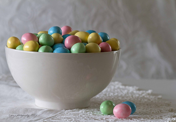 March 30 - You know, Easter candy is just plain pretty...tastes pretty good too.